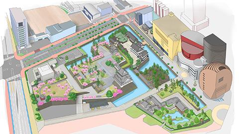 小倉城周辺案内図